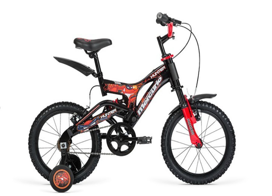 BICICLETA MERCURIO HUNTER DH R16 DOBLE SUSPENSION